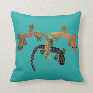 Desert Geckos Throw Pillows