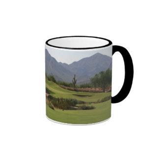 Desert Golf Ringer Coffee Mug
