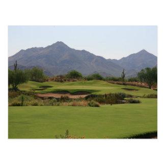 Desert Golf Postcard