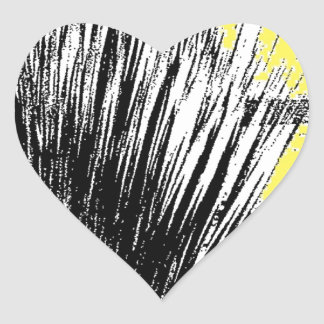 Desert Grass Plant Heart Sticker