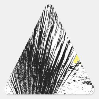 Desert Grass Plant Triangle Sticker