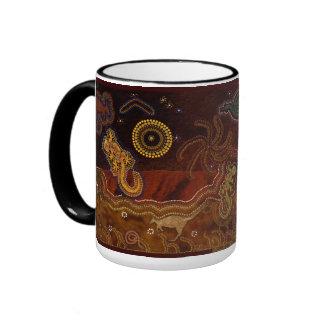 """Desert Heat"""" Australian Aboriginal Style Mug"