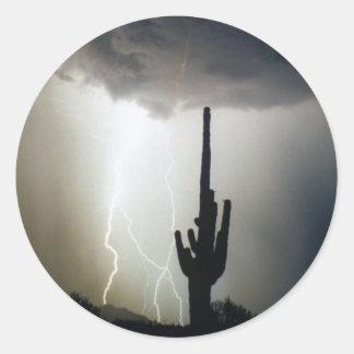 Desert Highlands Lightning Classic Round Sticker