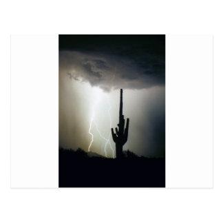 Desert Highlands Lightning Postcard