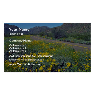 Desert Highway flowers Double-Sided Standard Business Cards (Pack Of 100)