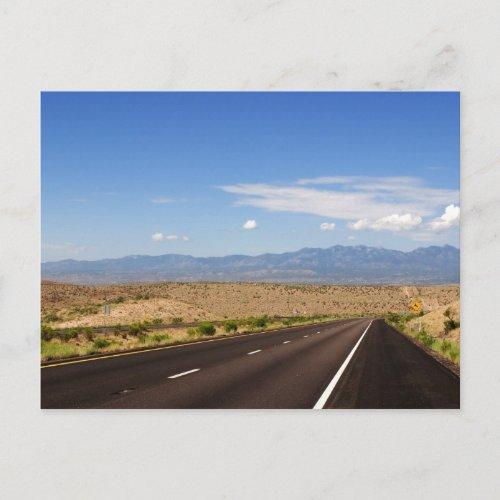 Desert Highway Postcard postcard