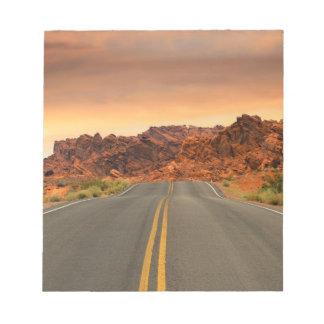 Desert Highway Scenery Landscape Notepad