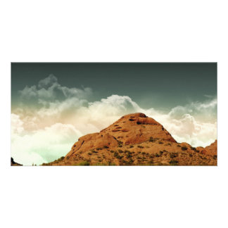 Desert Hill With Clouds Photo Cards