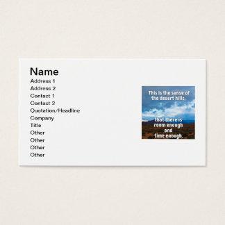 Desert Hills Business Card