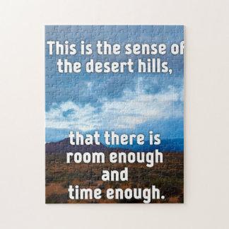 Desert Hills Jigsaw Puzzle