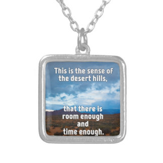 Desert Hills Silver Plated Necklace