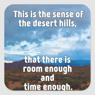 Desert Hills Square Sticker