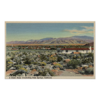 Desert Home Overlooking the City Poster