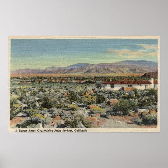 Desert Home Overlooking the City Poster