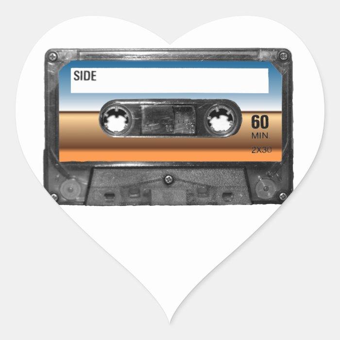 Desert Horizon Label Cassette Heart Sticker