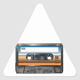 Desert Horizon Label Cassette Triangle Sticker
