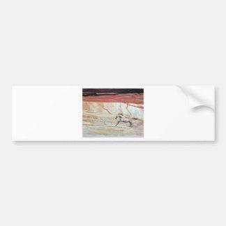 DESERT HORSE running wedding gift Bumper Sticker