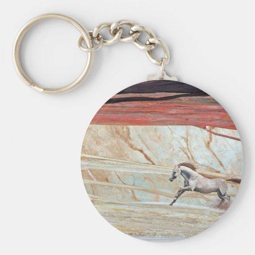 DESERT HORSE running wedding gift Basic Round Button Keychain