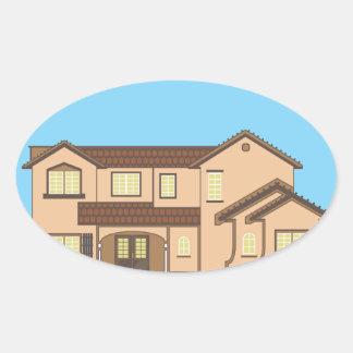 Desert_house.pdf Oval Sticker