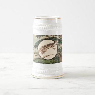 Desert Iguana In Natural Habitat Illustration Beer Stein