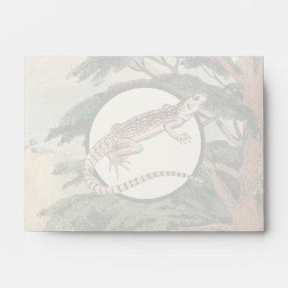 Desert Iguana In Natural Habitat Illustration Envelope