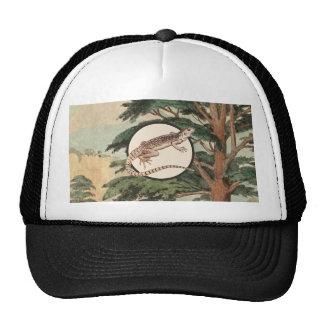 Desert Iguana In Natural Habitat Illustration Mesh Hat