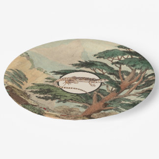 Desert Iguana In Natural Habitat Illustration Paper Plate