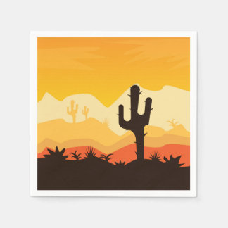Desert Illustration Napkin