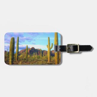 Desert in springtime luggage tag