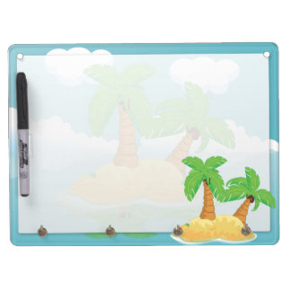 Desert Island Dry Erase Board With Keychain Holder