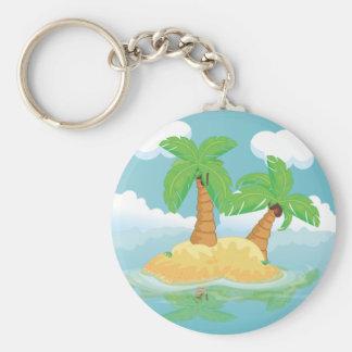 Desert Island Keychain