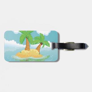 Desert Island Luggage Tag