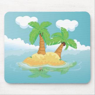 Desert Island Mouse Pad