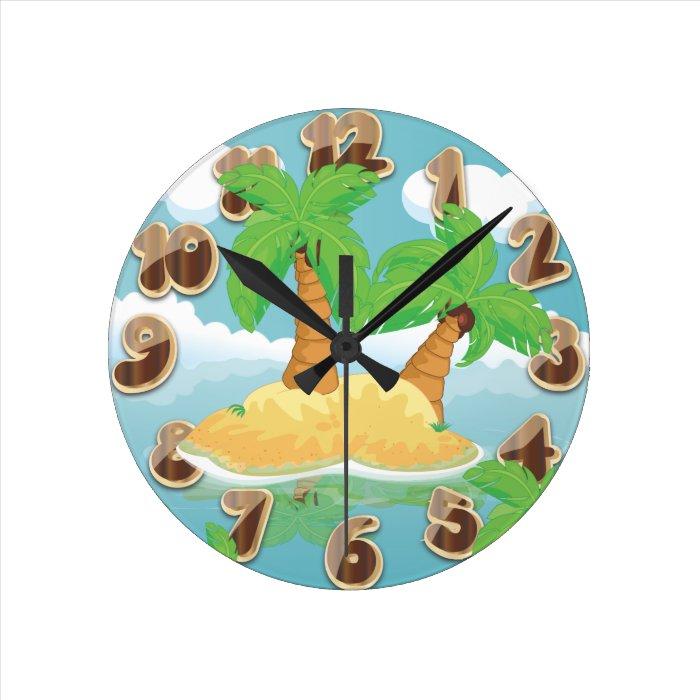 Desert Island Round Clock