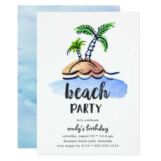 Island theme party invitations announcements zazzle desert island summer beach party invitation stopboris Choice Image