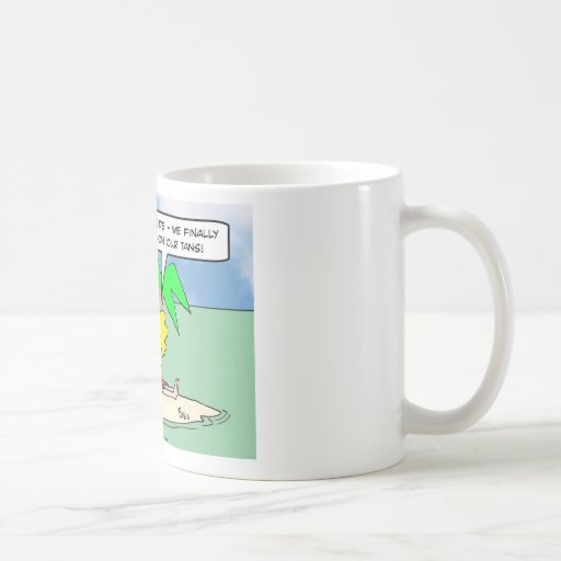 desert island time work on tans classic white coffee mug