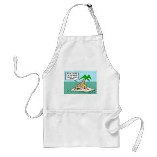 desert isle castaway misses happy hour adult apron