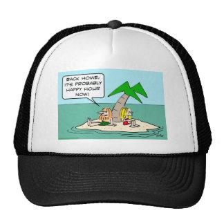 desert isle castaway misses happy hour hat