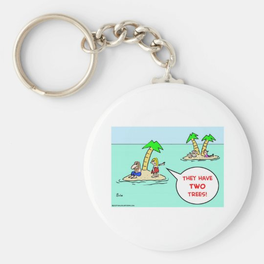 DESERT ISLE TWO TREES KEYCHAIN