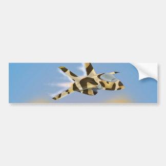Desert Jet Fighter Bumper Sticker