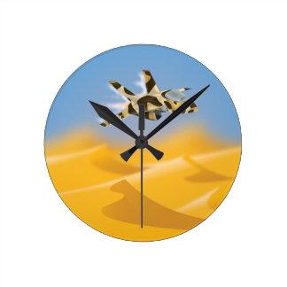 Desert Jet Fighter Wall Clock