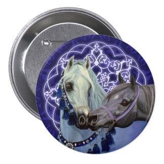 Desert Jewels Arabian horses round button
