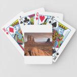 Desert landscape bicycle poker deck