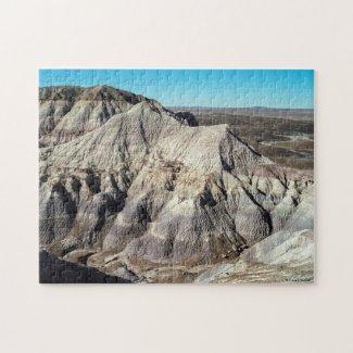 Desert Landscape Blue Mesa Badlands Photo Jigsaw Puzzle