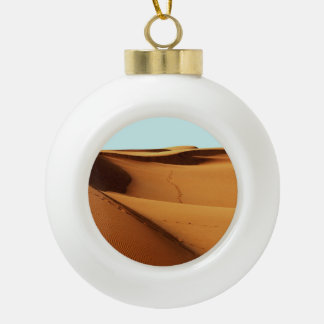 Desert Landscape Ceramic Ball Christmas Ornament