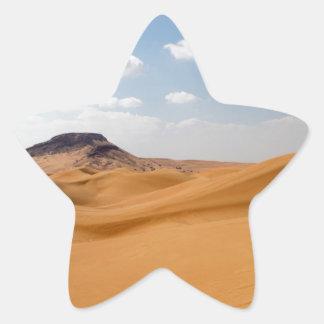 desert landscape star sticker