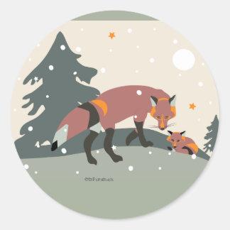 Desert Life fox sticker for packages