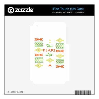 Desert Life iPod Touch 4G Decals
