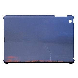 Desert lightning at sunset iPad mini case