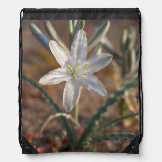 Desert Lily Wildflowers Drawstring Backpack